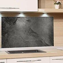 GRAZDesign Küchenrückwand Glas Grau, Bild-Motiv