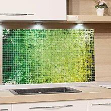 GRAZDesign Küchenrückwand Glas Grün Mosaik -