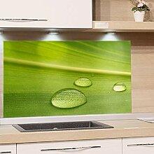 GRAZDesign Küchenrückwand Glas Grün -