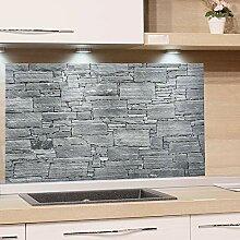 GRAZDesign Küchenrückwand Steinoptik Grau -