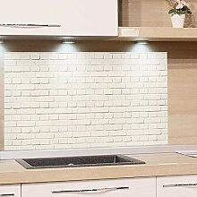 GRAZDesign Küchenrückwand Steinoptik weiß -