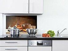 GRAZDesign Küchenspiegel Croissant Bohne Mühle -