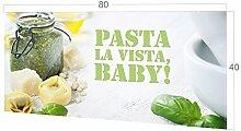 GRAZDesign Küchenspiegel Pasta la Vista, Küche