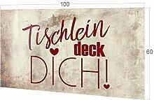 GRAZDesign Küchenspiegel Tischlein Deck Dich! -
