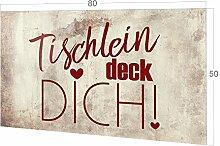 GRAZDesign Küchenspiegel Tischlein Deck Dich,