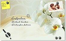GRAZDesign Magnettafel Glas braun mit Ornamenten,