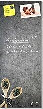 GRAZDesign Magnettafel Glas Granitoptik,