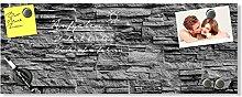 GRAZDesign Magnettafel Glas grau, Wandtafel