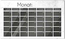 GRAZDesign Memoboard Monatsplaner Grau Schwarz