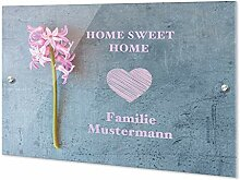 GRAZDesign Namensschild Haustür Home Sweet Home