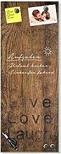 GRAZDesign Notiztafel Küche Holzoptik, Glasbild