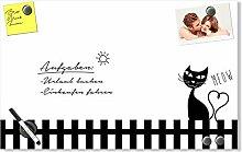 GRAZDesign Pinwand Weiß mit Katze, Magnetwand