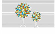 GRAZDesign Sichtschutzfolie Baum, Milchglasfolie