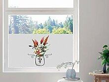 GRAZDesign Sichtschutzfolie Blumen, Fensterfolie