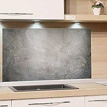 GRAZDesign Spritzschutz Glas, Bild-Motiv Granit