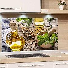 GRAZDesign Spritzschutz Glas für Küche Herd,