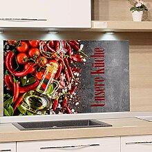 GRAZDesign Spritzschutz Glas für Küchenrückwand