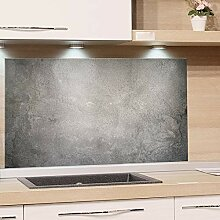 GRAZDesign Spritzschutz Glas Granit Grau Marmor,