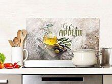 GRAZDesign Spritzschutz Küche Glas Guten Appetit