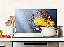 GRAZDesign Spritzschutz Küche Glas Pasta mit