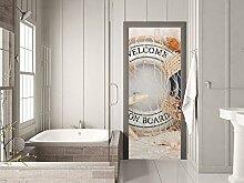 GRAZDesign Tür Klebefolie Badezimmer-Tür -