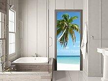 GRAZDesign Tür Klebefolie Palme - Fototapete Tür