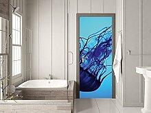 GRAZDesign Tür Klebefolie Qualle - Fototapete