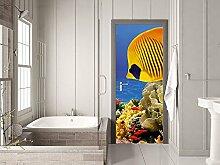 GRAZDesign Tür Klebefolie Unterwasserwelt -