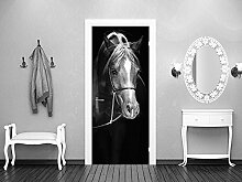 GRAZDesign Türtapete selbstklebend Pferd -