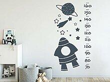 GRAZDesign Wachstumsmesser Kinderzimmer Rakete