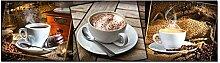 GRAZDesign Wandbild Küche Kaffee Cappuccino,