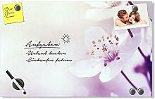 GRAZDesign Wandtafel Blumen - Schreibtafel Lila -