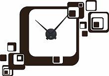 GRAZDesign Wandtattoo Aufkleber mit Uhrwerk Uhr