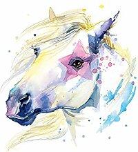 GRAZDesign Wandtattoo Pferd Weiß - mit Stern