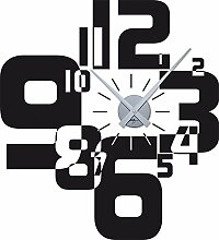 GRAZDesign Wandtattoo Uhr Wanduhr mit Uhrwerk für