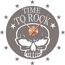 GRAZDesign Wanduhr Aufkleber Time to Rock - Uhren