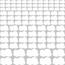 GRAZDesign Wolken Wandtattoo Weiß - Wandsticker