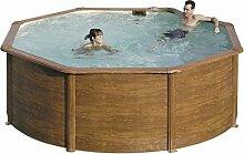 Gre kit350W–Pool rund Deko Holz Maße: Ø 350H 120