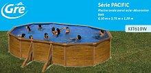 Gre kit610W–Pool oval 4seitenverstärkungen Dekoration Holz Maße: 610x 375h 120