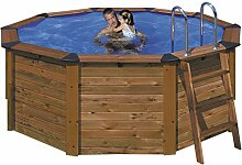 Gre KITNP352A–Pool Holz rund Maße: Ø Est 390H 120–Ø int 350H 120