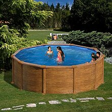 Gre kitpr358wo–Pool rund Deko Holz Maße: Ø 350H 132