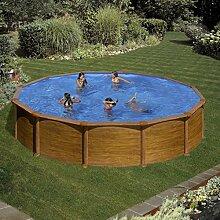 Gre kitpr558wo–Pool rund Deko Holz Maße: Ø 550H 132