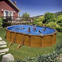 Gre kitprov618wo–Pool oval 4seitenverstärkungen Dekoration Holz Maße: 610x 375h 132