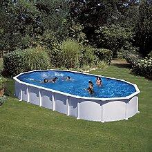 Gre kitprov9188–Pool oval weiß System Omega Dim: 915x 470H 132
