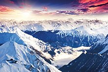 GREAT ART Fototapete Alpen Panorama