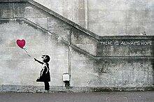 great-art Fototapete Banksy Art Balloon Girl -