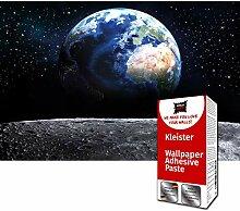 GREAT ART Fototapete Erde vom Mond 336 x 238 cm