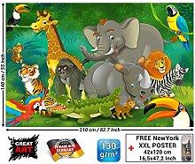 GREAT ART Fototapete Kinderzimmer - Dschungel