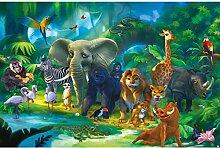 GREAT ART Fototapete Kinderzimmer – Dschungel