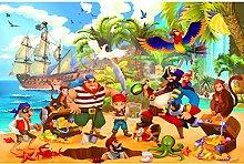 GREAT ART Fototapete Kinderzimmer – Piraten –
